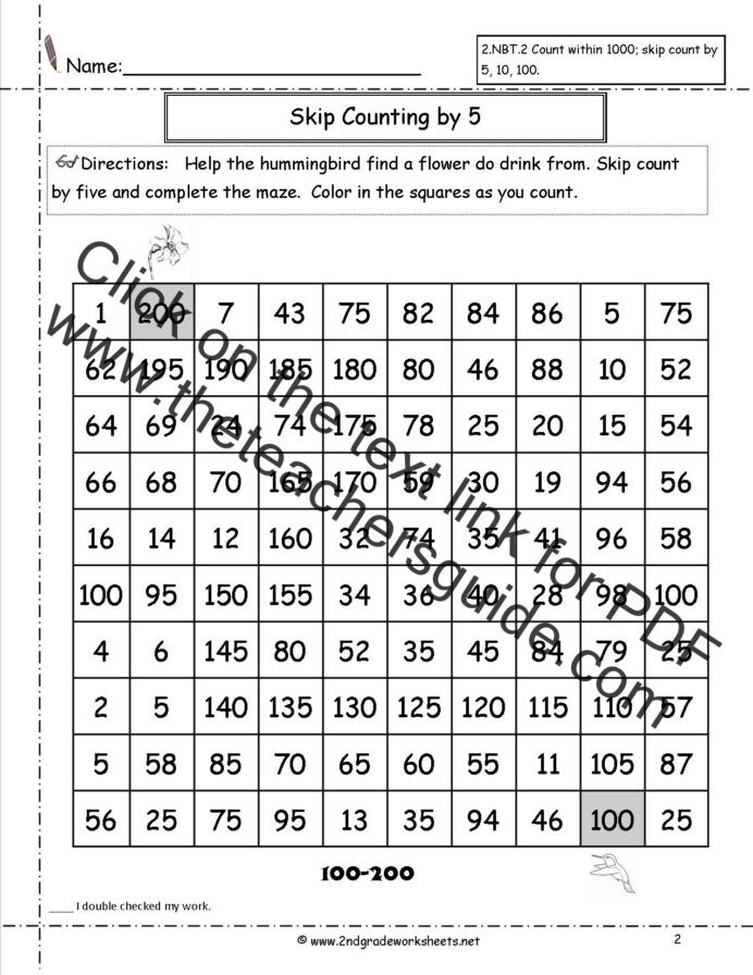 First Grade Skip Counting Worksheets Free Skip Counting Worksheets Math