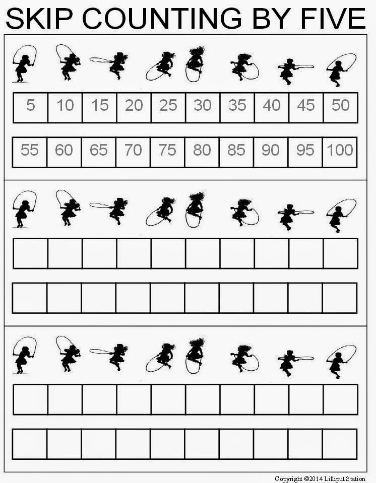 First Grade Skip Counting Worksheets Skip Counting Worksheets for 2 S and 5 S Freebie