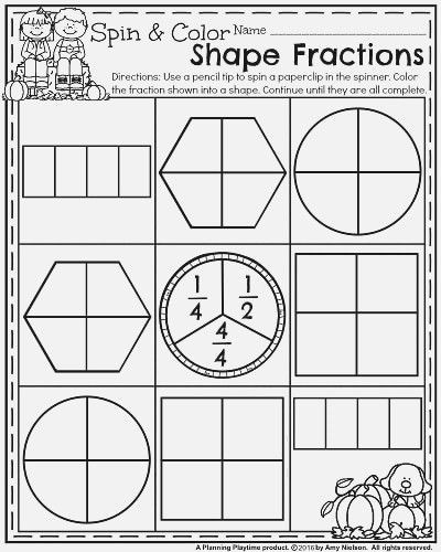 Fractions Worksheets First Grade Fractions First Grade Worksheets