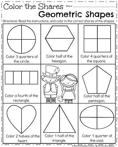 Fractions Worksheets First Grade March First Grade Worksheets
