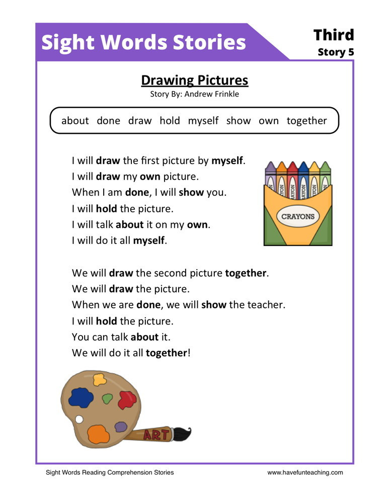 Free 1st Grade Comprehension Worksheets First Grade Reading Prehension Worksheets