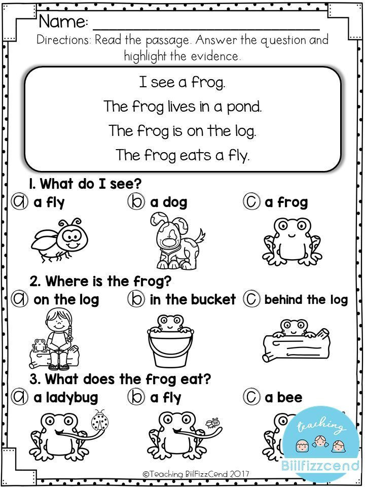 Free 1st Grade Comprehension Worksheets Free Reading Prehension for Early Reader