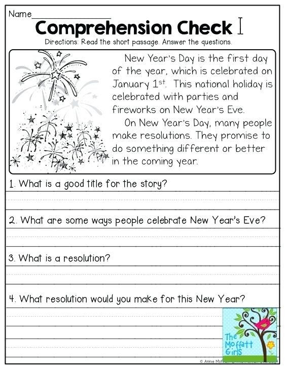 Free 1st Grade Comprehension Worksheets Grade Reading Worksheets Prehension English for 1st