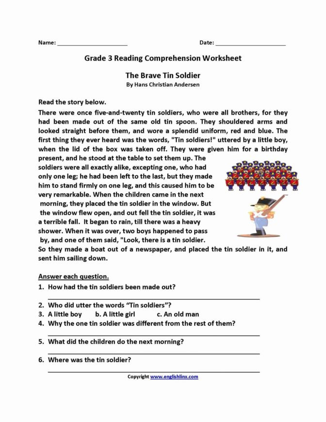 Free 1st Grade Comprehension Worksheets Math Worksheet Stunning Free Printable Reading Prehension