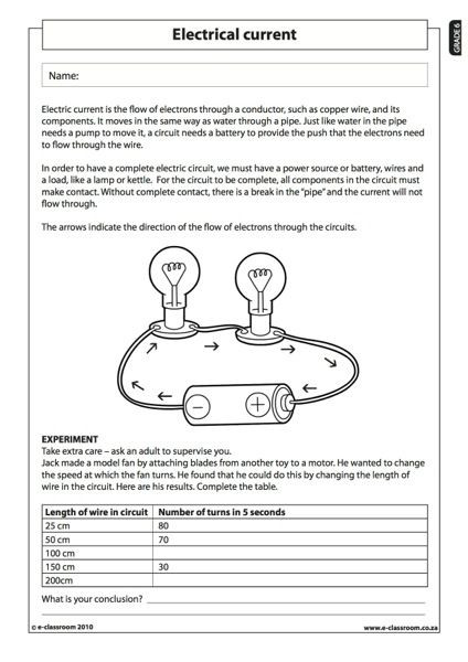 Free 6th Grade Science Worksheets Members Ly