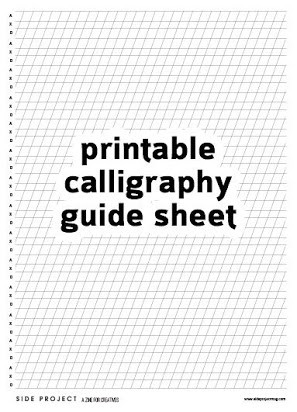 Free Calligraphy Worksheets Printable Calligraphy Tutorials Free