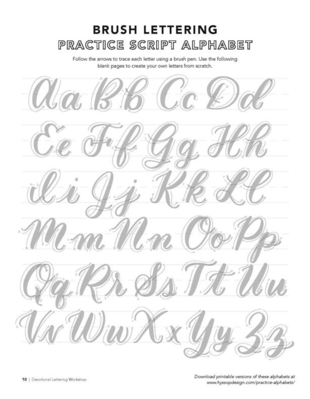 Free Calligraphy Worksheets Printable Free Calligraphy Alphabets Brush Lettering Practice