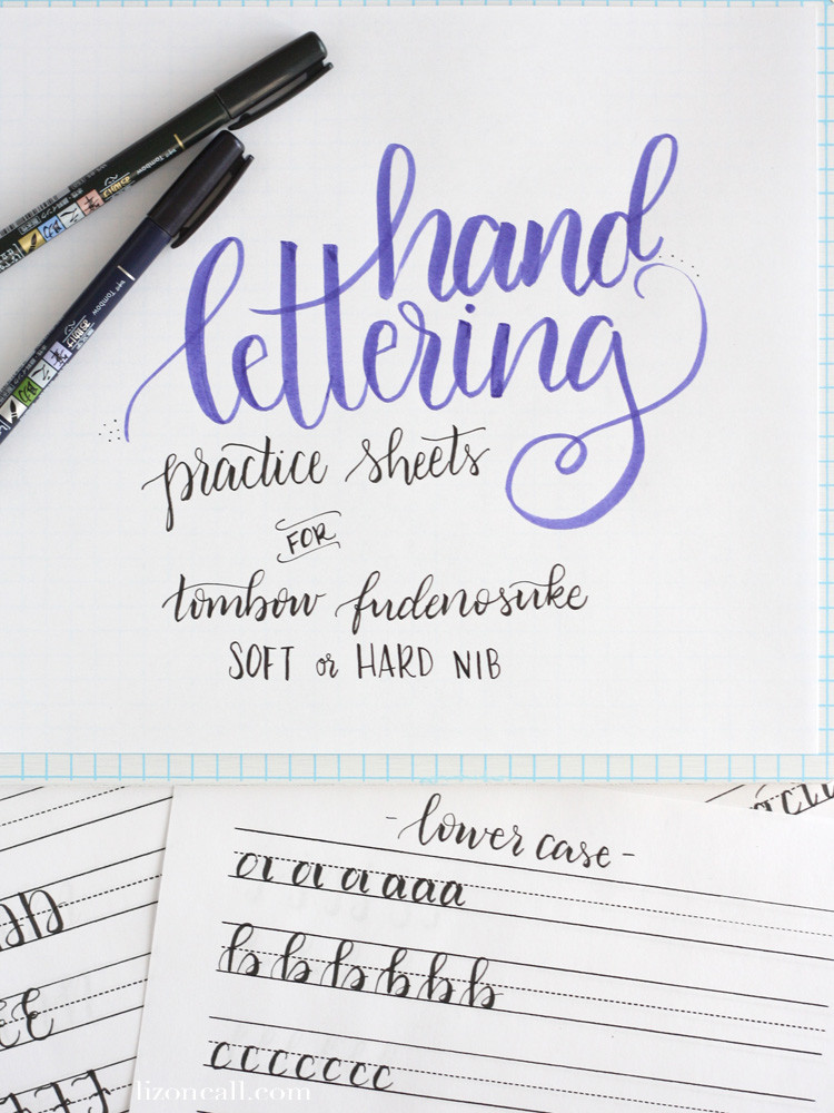 Free Calligraphy Worksheets Printable Free Printable Hand Lettering Practice Sheets — Liz On Call