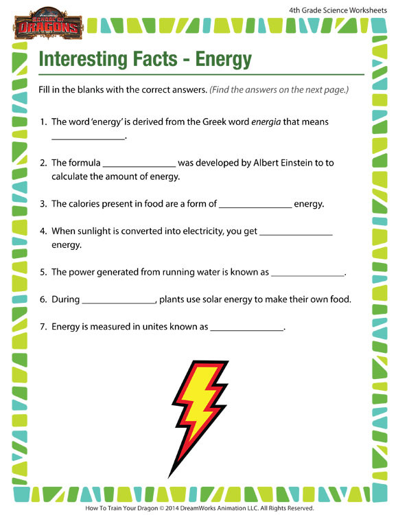 interesting facts energy