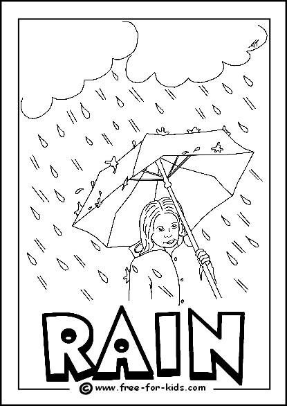 Free Grid Coloring Worksheets Printable Weather Colouring Free for Kids Coloring Pdf Rain