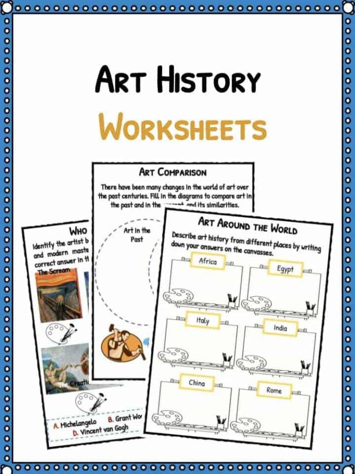 Free Kindergarten social Studies Worksheets Art History Facts Worksheets for Kids Through the Years Pdf