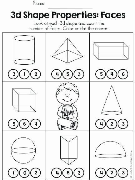 Free Printable 3d Shapes Worksheets 3d Shapes Worksheet Kindergarten Properties 3d Shapes