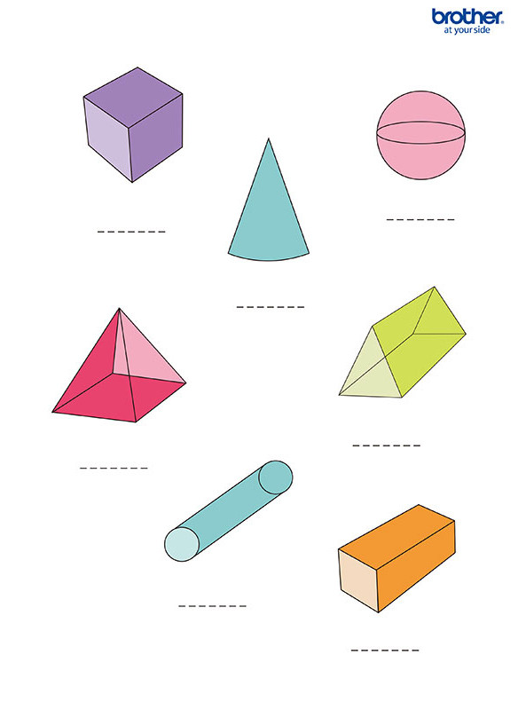 Free Printable 3d Shapes Worksheets Free Printable 3d Shapes Worksheet