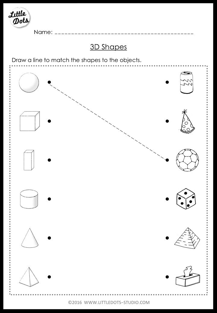 Free Printable 3d Shapes Worksheets Kindergarten Math 3d Shapes Worksheets and Activities