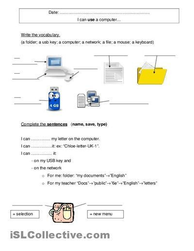 Free Printable Computer Worksheets Free Puter Worksheets Puter Free Worksheets En