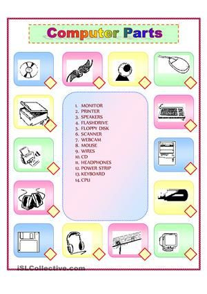 Free Printable Computer Worksheets Puter Parts Match