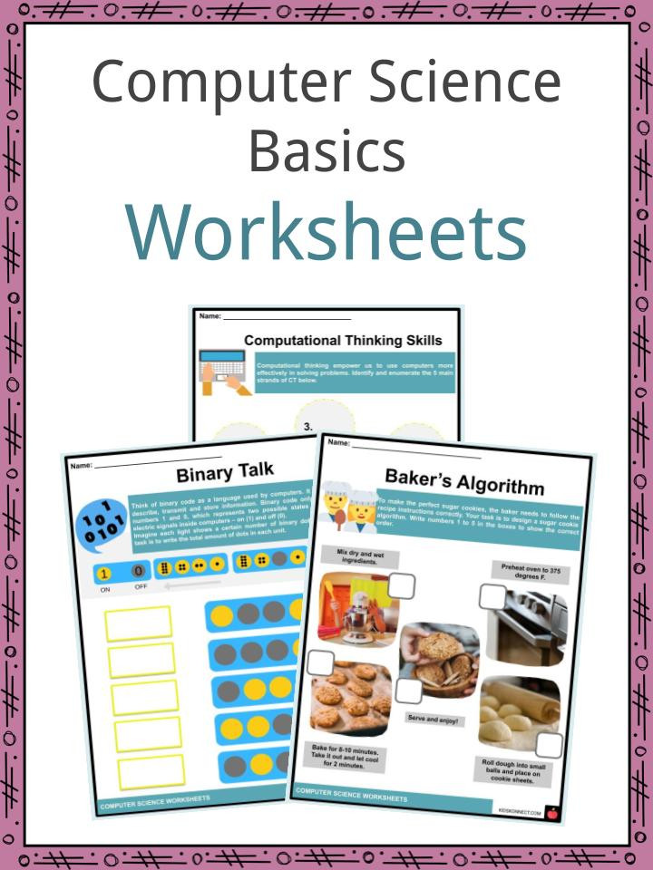 Free Printable Computer Worksheets Puter Science Basics Facts & Worksheets for Kids