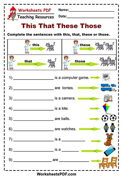 Free Printable Computer Worksheets This that these Those Free Printables Worksheets Pdf