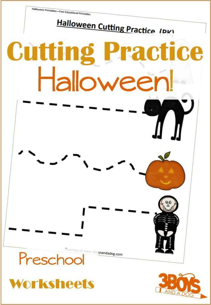 Free Printable Cutting Worksheets Halloween Cutting Activities