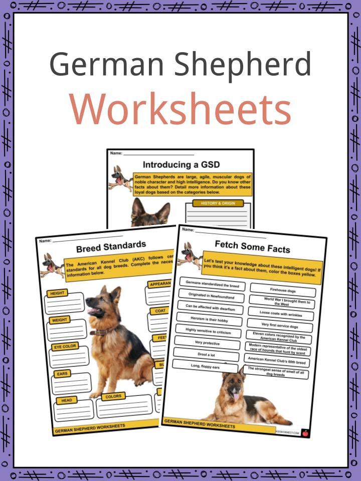 Free Printable Dog Training Worksheets German Shepherd Facts Worksheets & History for Kids