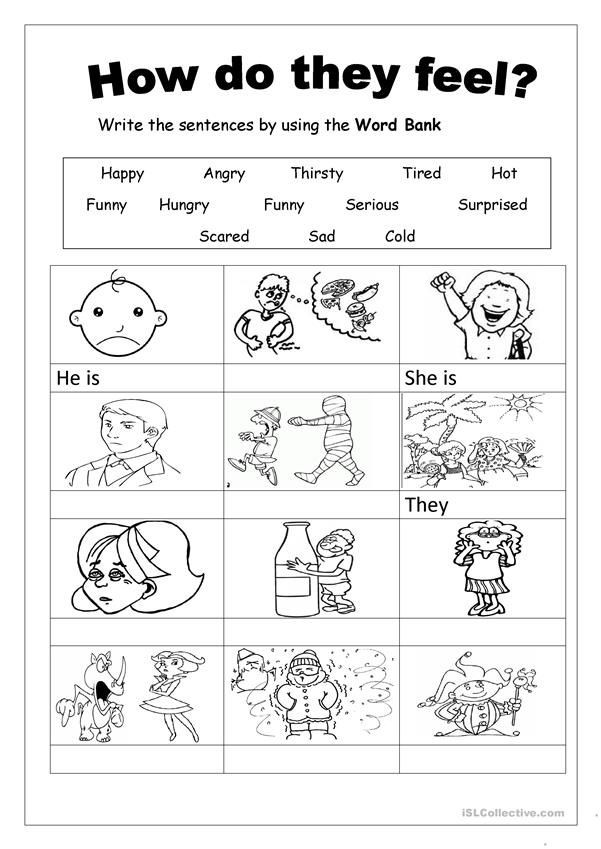 Free Printable Feelings Worksheets Feelings
