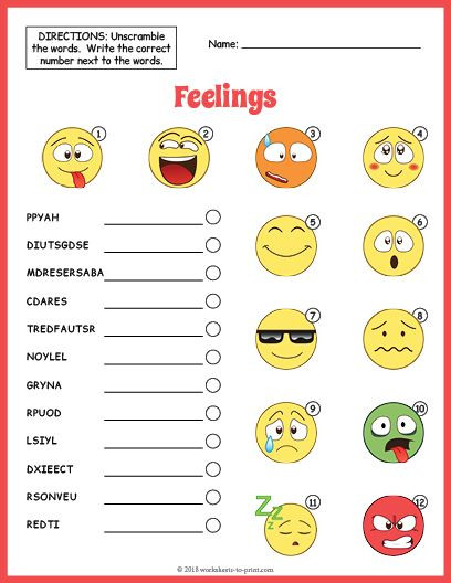 Free Printable Feelings Worksheets Feelings Vocabulary Worksheet Free