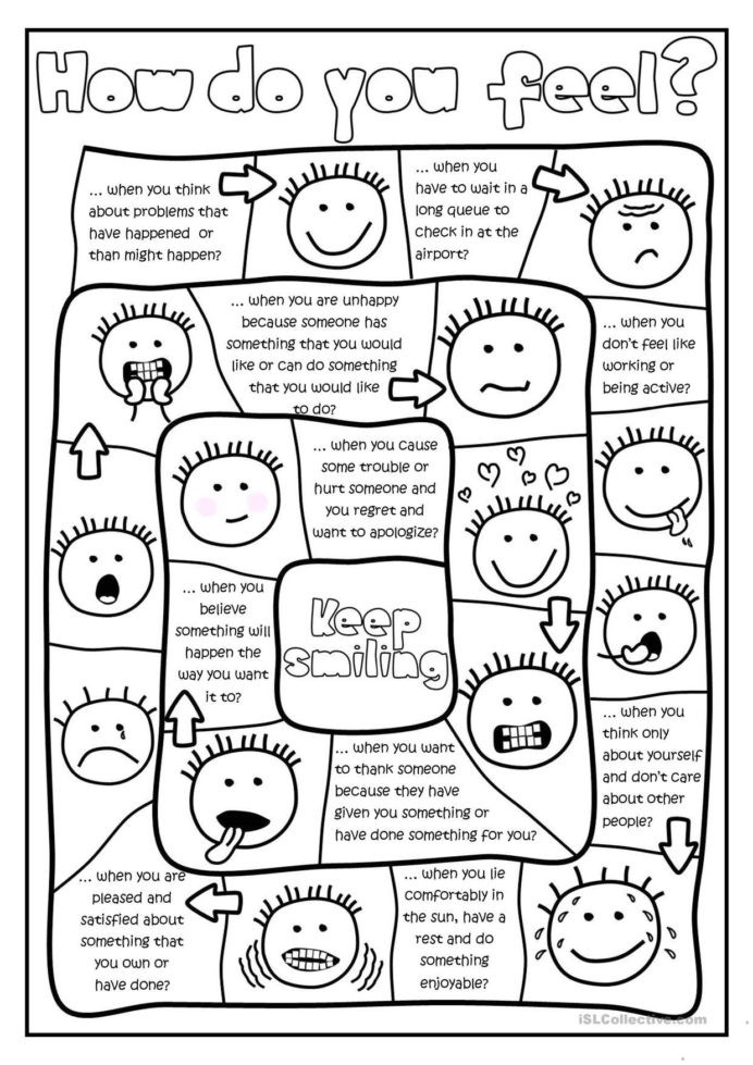 Free Printable Feelings Worksheets Free Printables and Activities Feelings Emotions social