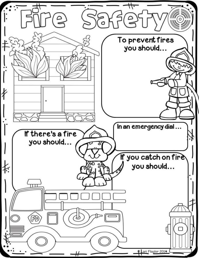 Free Printable Fire Safety Worksheets Fire Safety Preschool Math Worksheets for Grade Cbse Private