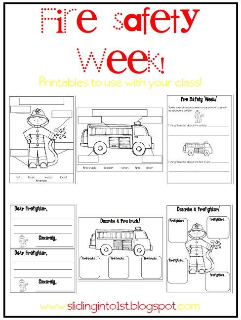 Free Printable Fire Safety Worksheets Halloween Fun & Fire Safety