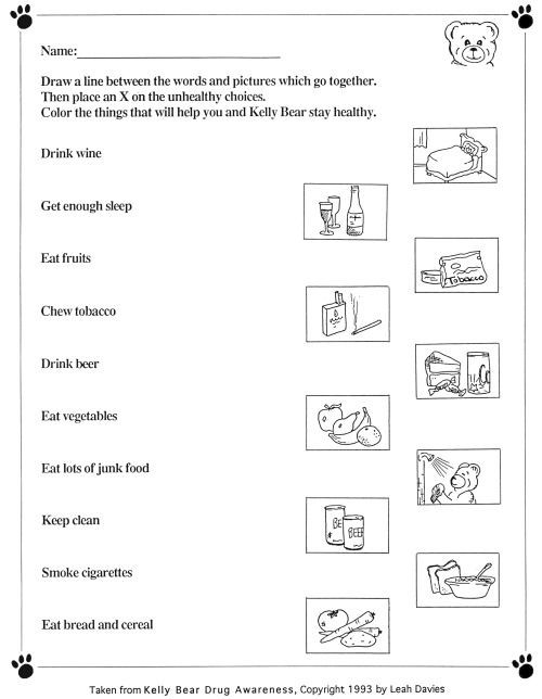Free Printable Health Worksheets 43 Free Printable Crafts for School and Worksheets for Kids