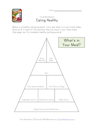 Free Printable Health Worksheets Eating Healthy Food Pyramid Worksheet