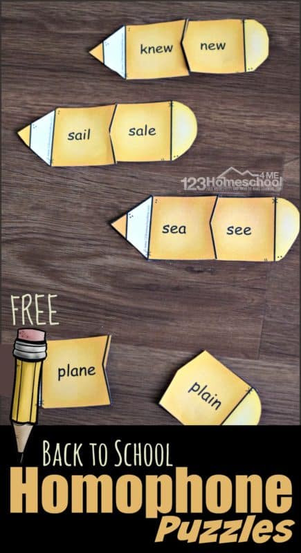 Free Printable Homophone Worksheets Back to School Homophone Puzzles