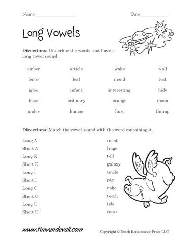 Free Printable Long Vowel Worksheets Free Long Vowel Worksheets