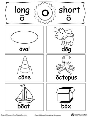 Free Printable Long Vowel Worksheets Short and Long Vowel Flashcards O
