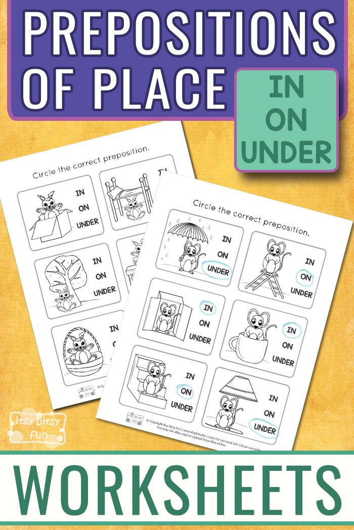 Free Printable Preposition Worksheets Free Prepositions Of Place Printables