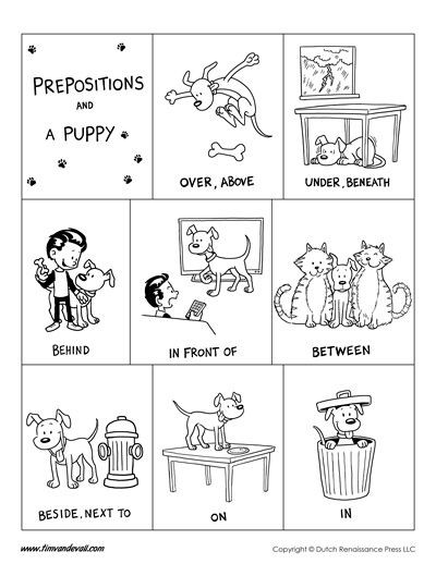 Free Printable Preposition Worksheets Preposition Poster