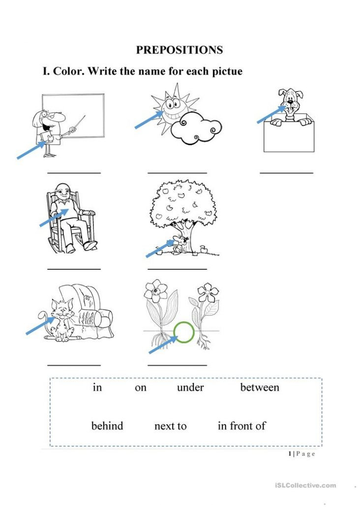 Free Printable Preposition Worksheets Worksheets Preposition Page 4