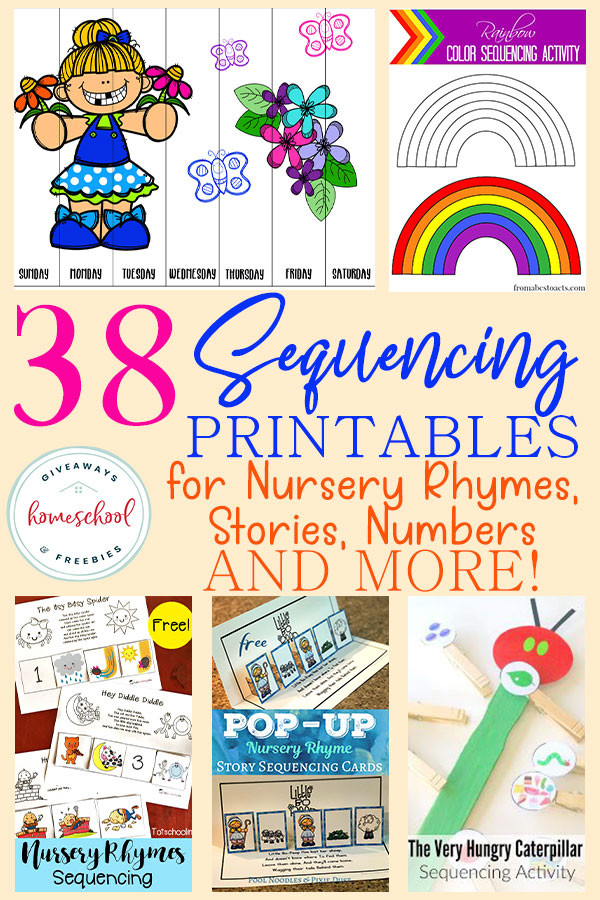 Free Printable Story Sequencing Worksheets 38 Sequencing Printables for Nursery Rhymes Stories