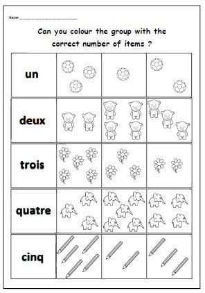 French Printable Worksheets French Number Worksheetprimary Printable Ks1 by