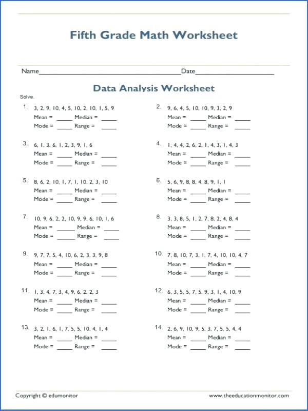 Frequency Table Worksheets 3rd Grade Mean Mode Median Worksheets – Timothyfregosoub