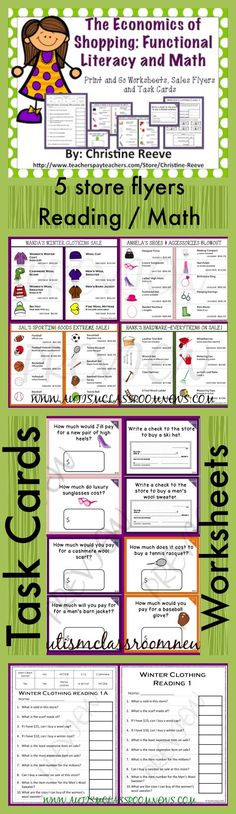 Functional Math Worksheets Special Education 56 Best Money Math Images