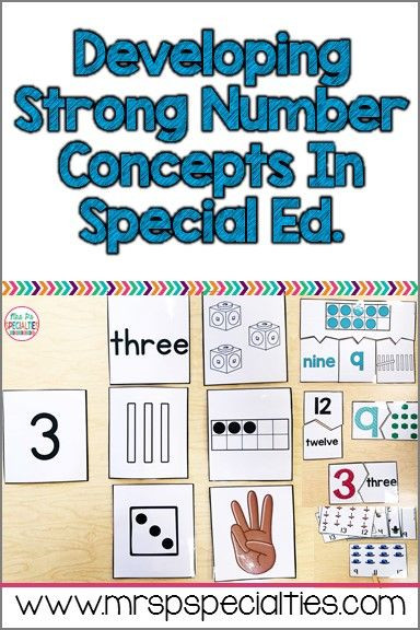 Functional Math Worksheets Special Education Developing Number Concepts In Special Ed