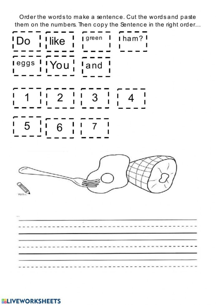 Functional Maths Worksheets Eggs and Ham Interactive Worksheet Worksheets Functional