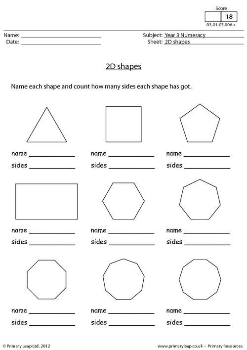 Geometric Shapes Worksheet 2nd Grade Primaryleap 2d Shapes Worksheet