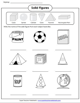 Geometric Shapes Worksheet 2nd Grade solid Shapes Worksheets
