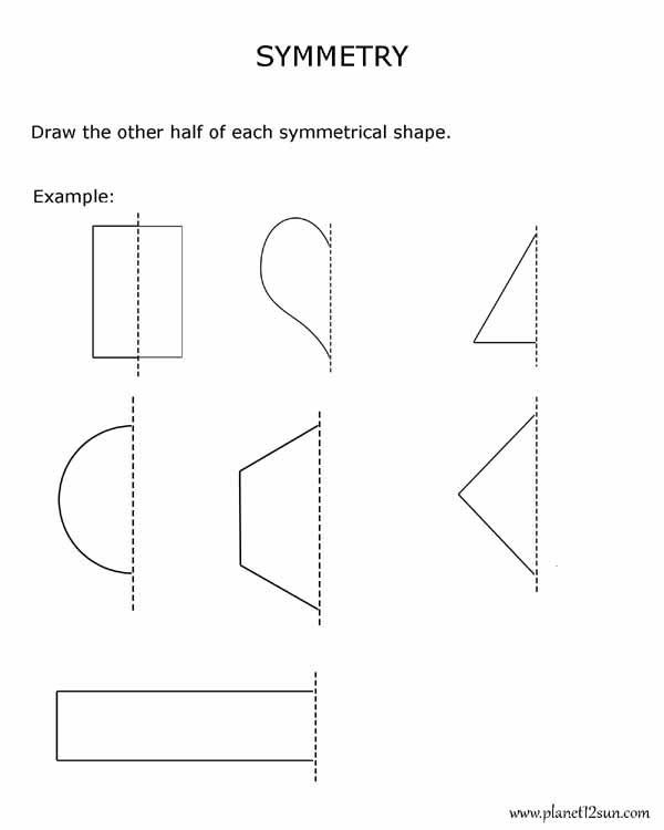 Geometric Shapes Worksheet 2nd Grade Symmetry 2nd Grade Geometry Bluebirdplanet Printables