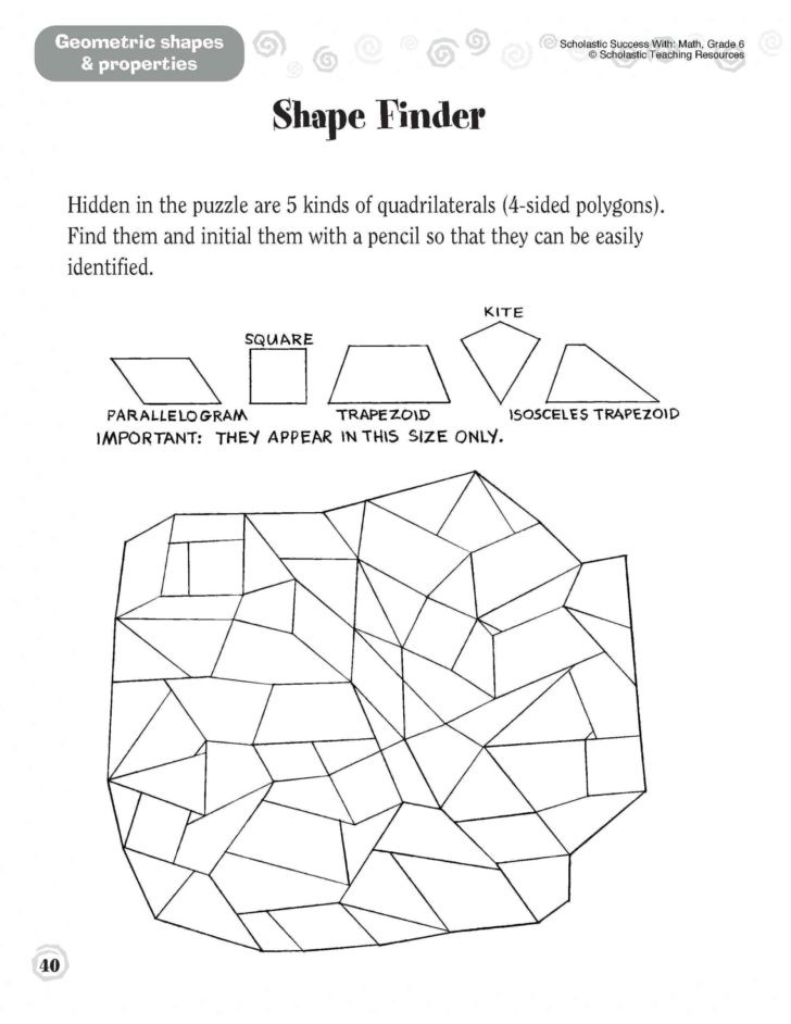 Geometric Shapes Worksheet 2nd Grade Worksheet 2nd Grade Geometry Worksheets Second Pdf Games