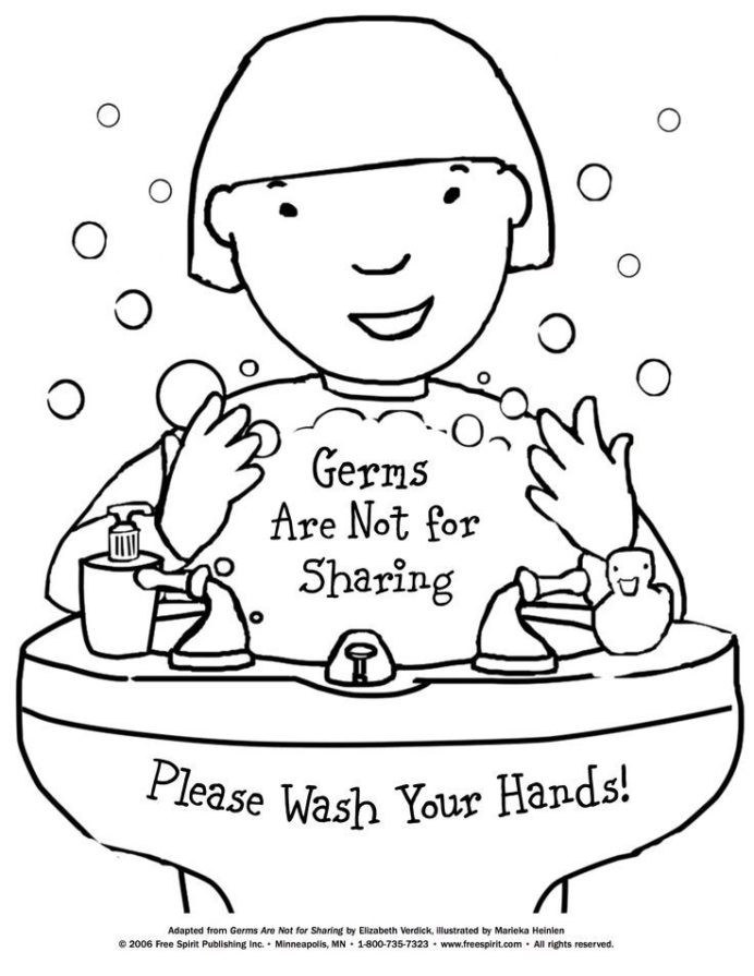 Germs Worksheets for Kindergarten Free Printable Coloring to Teach Kids About Hygiene Germs