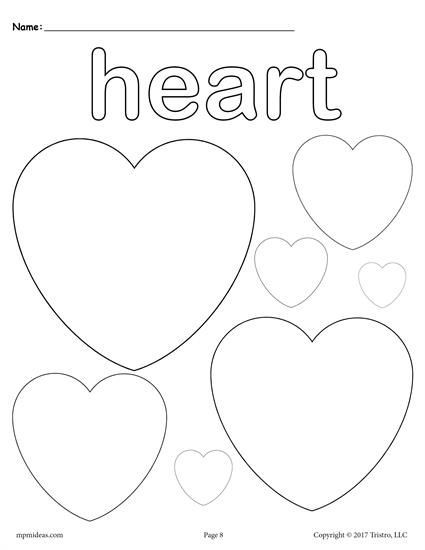 Heart Coloring Worksheet 12 Shapes Coloring Pages