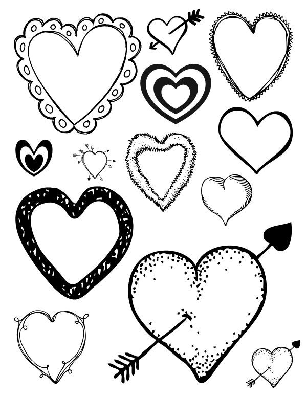 Heart Coloring Worksheet Free Printable Loving Hearts Coloring Pag
